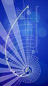 picture of fibonacci  - golden ratio blueprint  - JPG