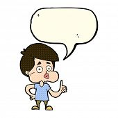 foto of attitude boy  - cartoon boy giving thumbs up with speech bubble - JPG