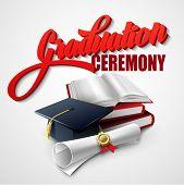 stock photo of graduation hat  - Graduation Ceremony - JPG