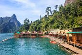 image of raft  - Floating residence raft in Khao Sok National Park - JPG