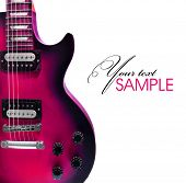picture of hardtack  - Pink Electric Guitar - JPG