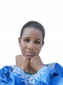 stock photo of traditional dress  - Afro beauty wearing a traditional dress - JPG