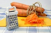 image of grating  - Grated carrot grater for vegetables carrot farm in conjunction - JPG