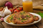 pic of cumin  - Fried potato pancakes with garlic and marjoram sprinkled cumin chive and coarse - JPG