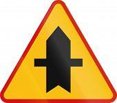 picture of priorities  - Polish danger warning sign - JPG
