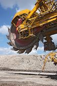 Detail Of Big Excavator In Coal Mine In Europe poster