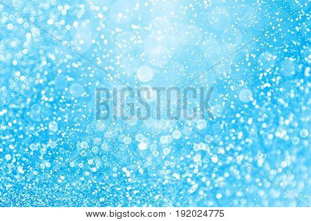 Abstract blue glitter