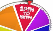 Spin to Win Game Show Wheel Play Jackpot 3d Illustration poster