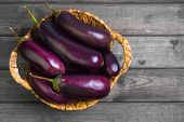 Eggplant In A Wicker Basket poster