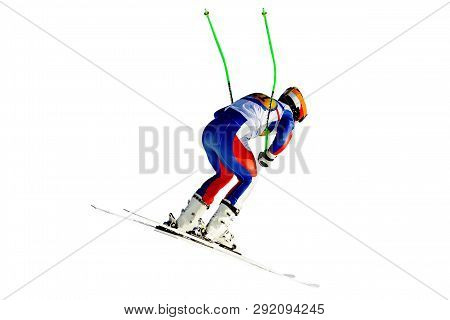 Racer Downhill Slalom Jump In