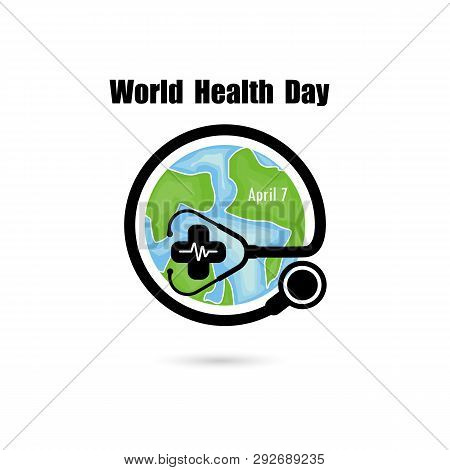 Globe Sign And Stethoscope Vector