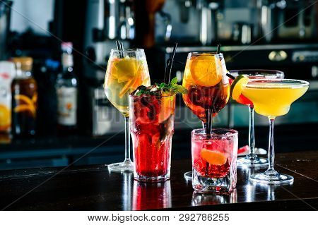 Selection Of Best Selling Cocktails