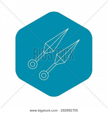 Kunai Ninja Throwing Daggers Icon