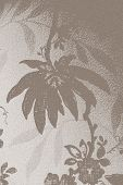 foto of taupe  - Vintage wallpaper background of hanging taupe flower - JPG