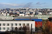 pic of murmansk  - View of downtown from hill in Murmansk north Russia - JPG
