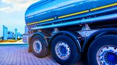 Chemical Storage Tank And Tanker Truck , Truck With Fuel Tank poster