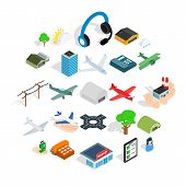 Arrival Icons Set. Isometric Set Of 25 Arrival Icons For Web Isolated On White Background poster