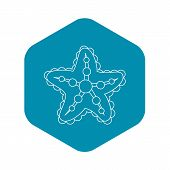 Starfish Icon. Outline Illustration Of Starfish Icon For Web poster