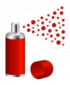Spray in red design