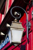 Street Lamp In Saint-valery-sur-somme, Somme, Hauts-de-france, France poster