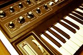 Synthesizer With Knobs And Keys