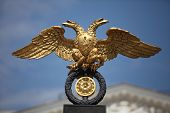picture of sceptre  - gold double eagle Russian coat of arms