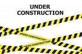 Under Construction Website Page. Under Construction Warning Banner poster