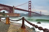 image of golden gate bridge  - Image of Golden Gate Bridge in San Francisco California - JPG