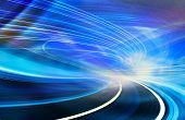 picture of computer-generated  - Abstract speed technology background illustration - JPG
