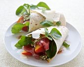 Ham, Peach And Cheese Wrap