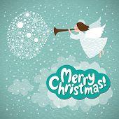 picture of angel-trumpet  - Christmas angel - JPG
