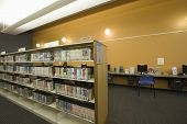 foto of shelving unit  - Library reading room - JPG