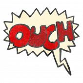 retro cartoon comic book ouch symbol