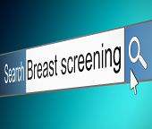 Breast Screening Concept.