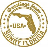 Greetings from Sunny Florida Vintage Stamp