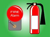 Alarm Bell And Fire Extinguisher