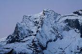 foto of sherpa  - Morning view to Nupla peak before sunrise - JPG