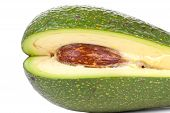 picture of avow  - Fresh avacado close up on white background - JPG