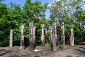 Granite Columns In Ancient City Of Polonnaruwa
