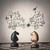 foto of comparison  - conceptual chess - JPG