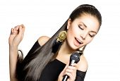 foto of singing  - Singing Woman - JPG
