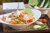 foto of green papaya salad  - green papaya salad thai food Thai cuisine  - JPG