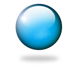 stock photo of world-globe  - Blue sphere over white background with shadow - JPG