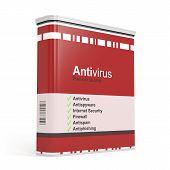 stock photo of antivirus  - Antivirus software box isolated on white background - JPG