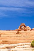 pic of turret arch  - Delicate Arch at Arches National Park Utah USA - JPG