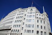foto of street-art  - BBC Broadcasting House built in an art deco style in1932 - JPG