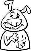 image of goofy  - Black and White Cartoon Illustration of Funny Dog Expressing Goofy Mood or Emotion for Coloring Book - JPG