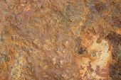 image of oxidation  - Rusty old brown oxidized metal grunge background - JPG