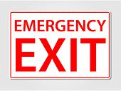 picture of emergency light  - Emergency exit sign vector illustration - JPG