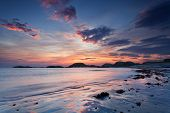 image of bute  - Colorful sunset on the beach of Traigh Mor Isle of Iona Inner Hebrides of Scotland - JPG
